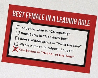 Personalized Mothers Day Card - Oscars Ballot