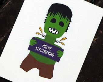 Funny Valentine Card Frankenstein Love