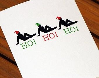 Funny Christmas Card - Ho Ho Ho Guys