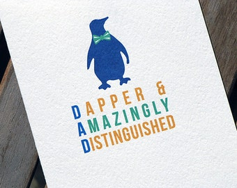 Cute Penguin Fathers Day Card for Dad
