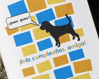 Spanish Birthday Card Feliz Cumpleaños Amigo