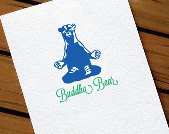 Funny Birthday Card Buddha Bear