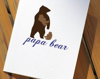 Papa Bear Birthday Card for Dad