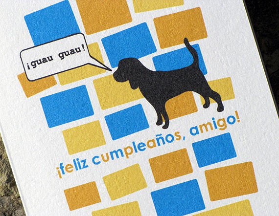 spanish birthday card feliz cumpleaños amigo by heartsgrowfonder, Birthday card