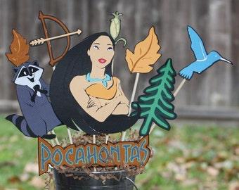 Pocahontas disney birthday party centerpiece