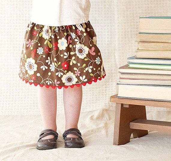 Toddler, girls skirt... baby, toddler, girls skirt...12 month, 18 month, 2t, 3t, 4t, 5t... Autumn Flowers