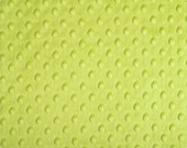 Apple Green Cuddle Dimple/ Dot Minky (Minkee), Cuddle Dimple by Shannon Fabrics, Remnant 3/8 yard
