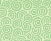 "Me & My Sister Favorite ""Swirls"" in Green (Lime), by Moda, 1 yard"