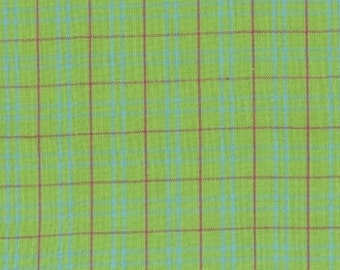 Fiesta Brights Lime Woven Plaid, by Moda, 1 yard