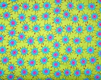 SALE! Blossom Burst in Lime/Turquoise/Hot PInk, by Michael Miller, 1 yard