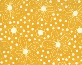 Flowers in Banana for Lollipop Collection, by Moda, 1 yard