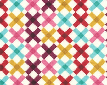 Eggplant/Pink Lattice Print from the Domestic Bliss Collection, by Moda, 1 yard