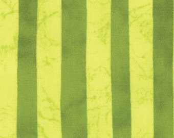 Pear and Acid Green (Pale Yellow and Olive) Stripe from the Stitch in Color Collection, by Moda