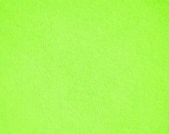 Lime Minky (Minkee), Cuddle by Shannon Fabrics, 1 yard