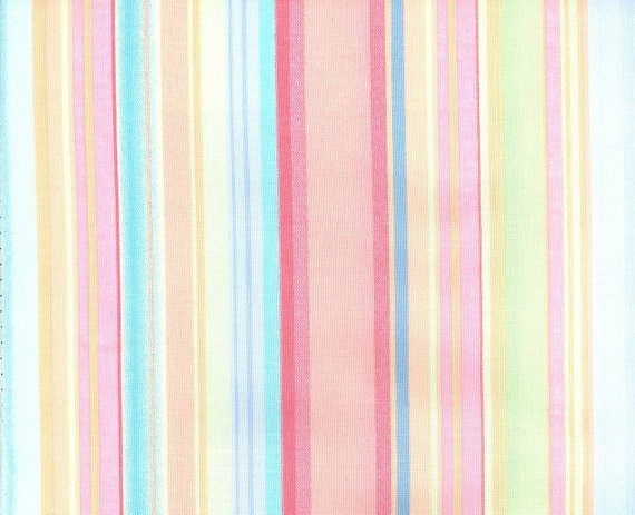 Pastel Stripe Cotton Fabric By Michael Miller 5 8 Yard