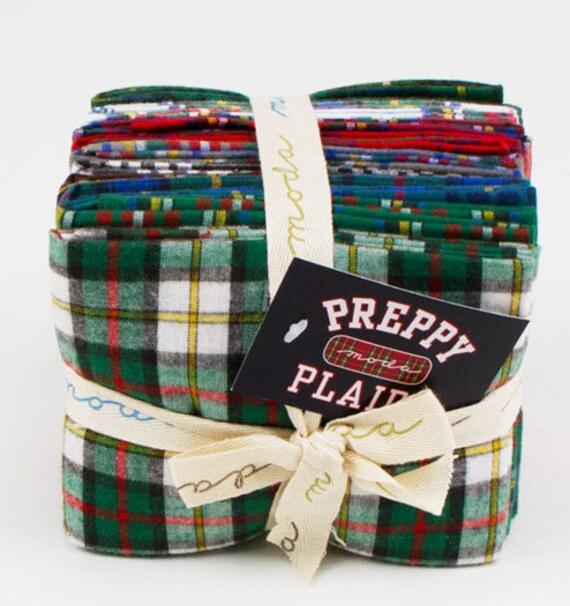 Preppy Plaids by Moda Fabrics, Fat Quarter Bundle