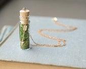 Bohemian Arrow in a Bottle Pendant / Sagittarius Glass Terrarium Necklace / Valentine's Day Gift