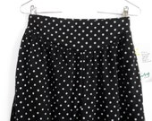 1980s Knit Harem Pants Peg Leg Black/White Polka Dot