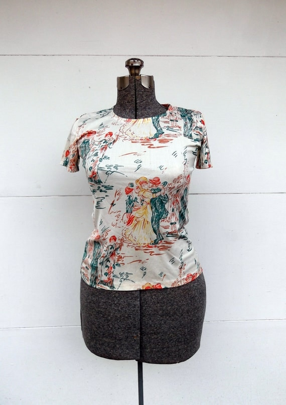1970s T-Shirt/Top Renoir Dancers