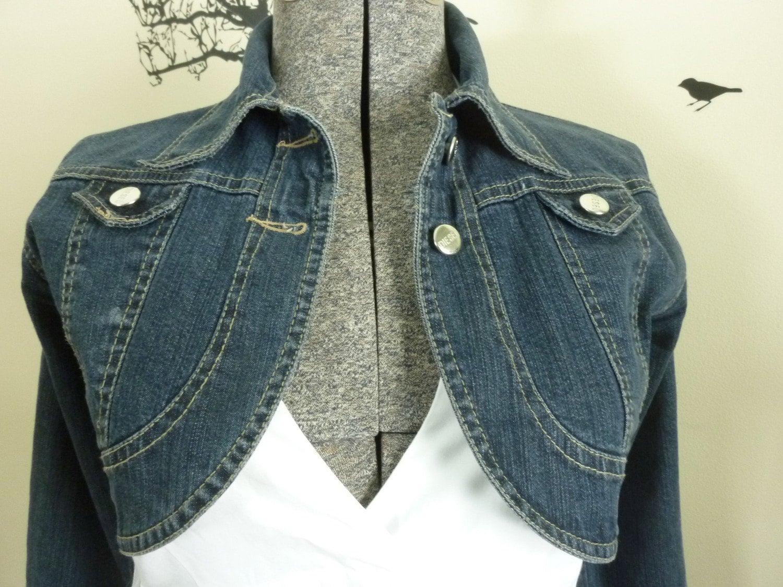 Diesel Denim Cropped Jacket Shrug Very Short Size Small