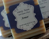 Armor- Olive Oil Soap. Gunpowder, Smoke, Cedar and Bourbon.