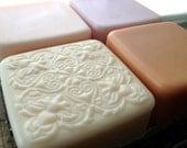 Soft Nature  - Mothers Day handmade soap set. Orange, Peony, Grapefruit and Canteloupe