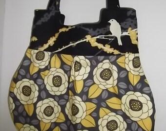 Teardrop Hobo bag with Joel Dewberry Sparrow and Bloom