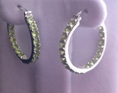 Approx. 4 Ct. Peridot Hoop Earrings