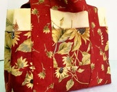 CIJ Free Ship Sunflower Tote Bag With Pockets Ready to Ship One of a Kind