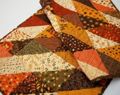 Fall/Autumn Quilted Table Runner-Autumn Hues Handmade