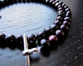 Eggplant freshwater pearl necklace