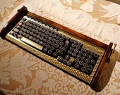 Keyboard Mouse Combo - Antique looking Victorian Styling - Steampunk-Typewriter-Gold- ETSY DISCOUNT OFFER