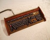 Antique looking -IBM Clicky Keyboard-Victorian Steampunk- Rusty Styling- Typewriter - Recycled, Rebuilt, Custom Built and Restored