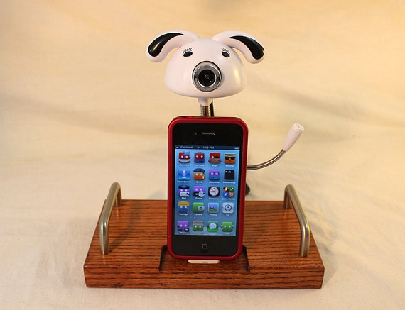 The Web Cam Dock - iPhone Dock - iPod Dock - Charger and Sync Station -  Cute Cam with Mic - iPhone4 Docking Iphone Dock - Big Sale