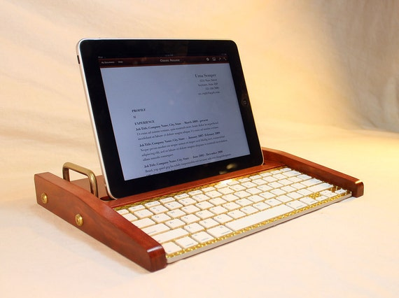 iPad Tablet Workstation - Keyboard - Tablet  Dock  - Cherry -  iPad, IPhone, Tablet Bluetooth Keyboard Computer Desktop Workstation