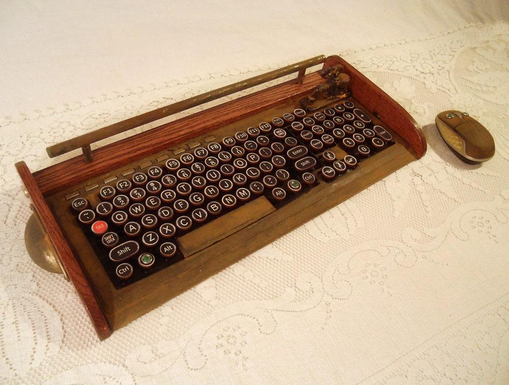 Old Fashioned Typewriter Computer Keyboard