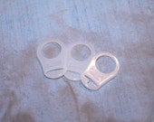 Mam or Button style Pacifier adapters set of 3 - Ready to ship