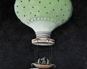 Moon-fish Hot Air Balloon - Limited Edition Print