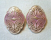 Vintage Earrings, MOD Earrings Large Pinky Purple West Germany (SN334),Vintage Earrings