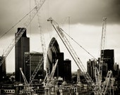 Gherkin and Cranes - 8x10 print