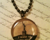 I Want To Believe Necklace (Round)