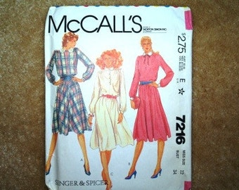 McCalls 80s dress  pattern