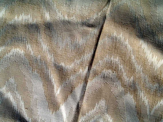 Cream on taupe remnant  fabric for upholstery or curtain