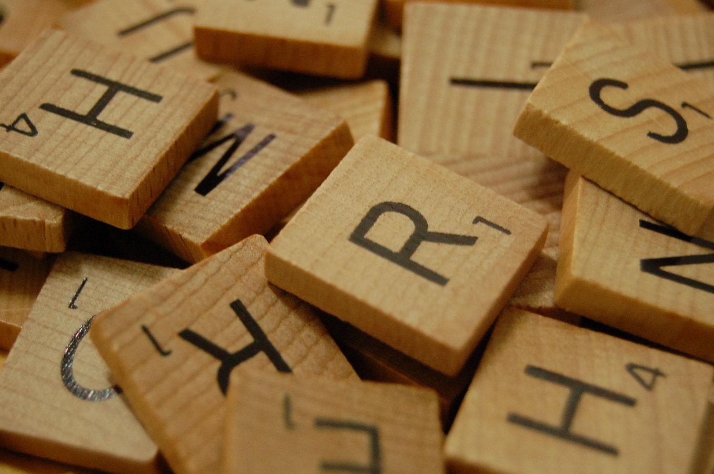 200 wooden scrabble tiles in bulk 2 complete sets by for Bulk letters