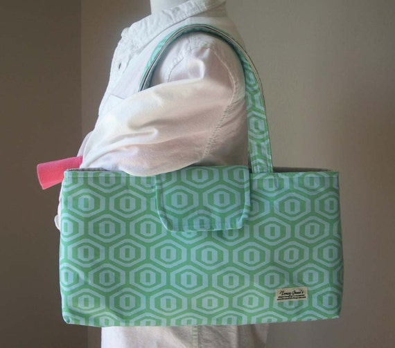 The Hildie Bag with Amy Butler's Honeycomb in Ice