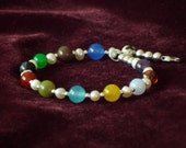 Foundations bracelet with 2mm sterling silver beads, size 7.5