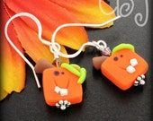 Pumpkin Polymer Clay Earrings - CBJbyLorena