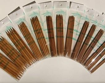 Stanwood Needlecraft - 7-inch Patina Carbonized Double Point Bamboo Knitting Needles, Sizes US 1-15