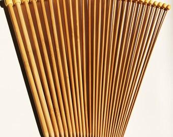 Stanwood Needlecraft - Carbonized Patina 13-inch Single Point Bamboo Knitting Needles, Sizes US 1-15