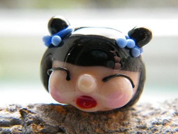Geisha Girl ...Lampwork bead (1) by Caroline Dousi